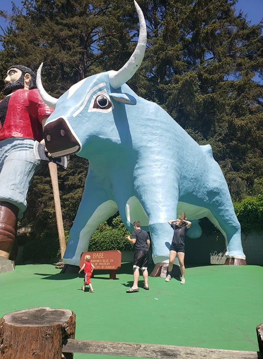 paul bunyan and babe blue ox