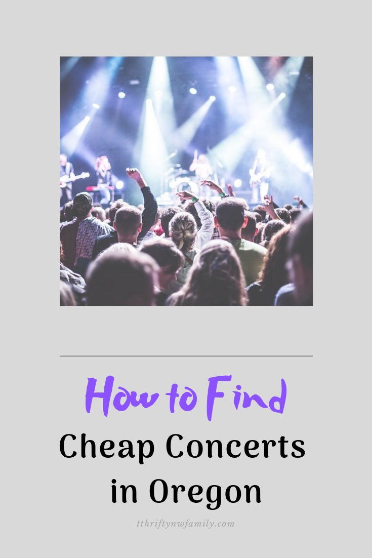 How to find cheap concerts in Oregon
