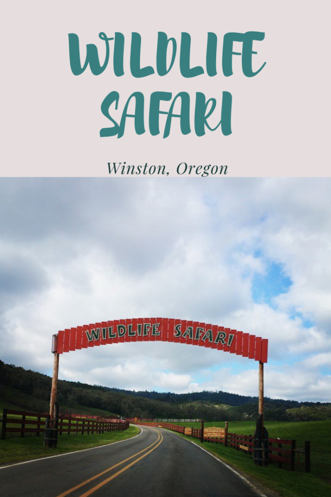Road and Sign for Wildlife Safari in Winston Oregon