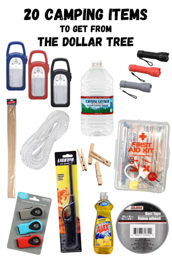 camping supplies on a budget